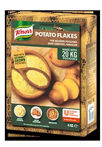 KNORR Burgonyapehely 4 kg - Gyakori kihívás a friss burgonya  állandó minőségű, tervezhető áron történő beszerzése.