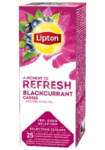 LIPTON Feketeribizli tea 25 x 1,6 g - Változatos Lipton tea kínálat: herbal, fekete, zöld vagy gyömülcs ízű