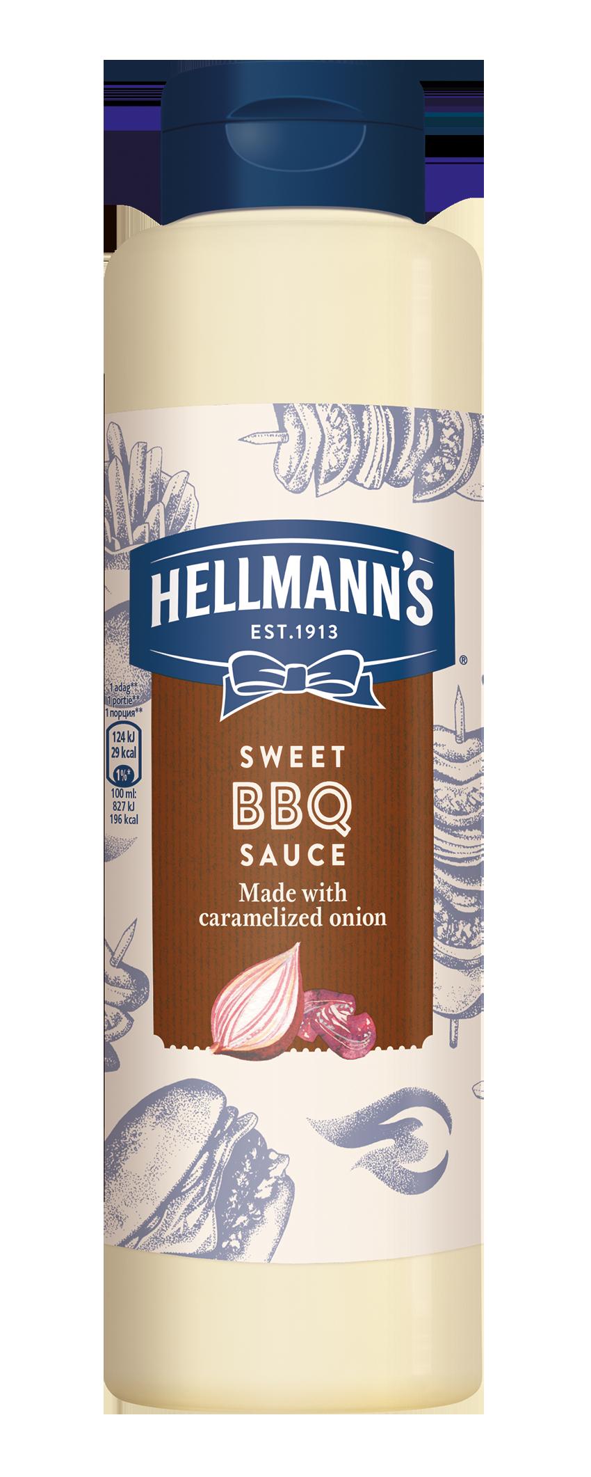 HELLMANN'S Barbecue szósz 792ml -  Minőségi márkájú termék felszolgálása pozitív benyomást kelt a vendégekben.