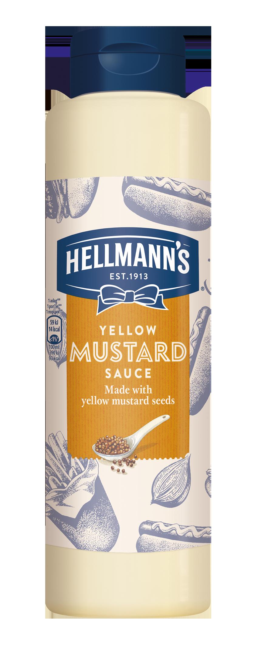 HELLMANN'S Mustár szósz 850ml -  Minőségi márkájú termék felszolgálása pozitív benyomást kelt a vendégekben.