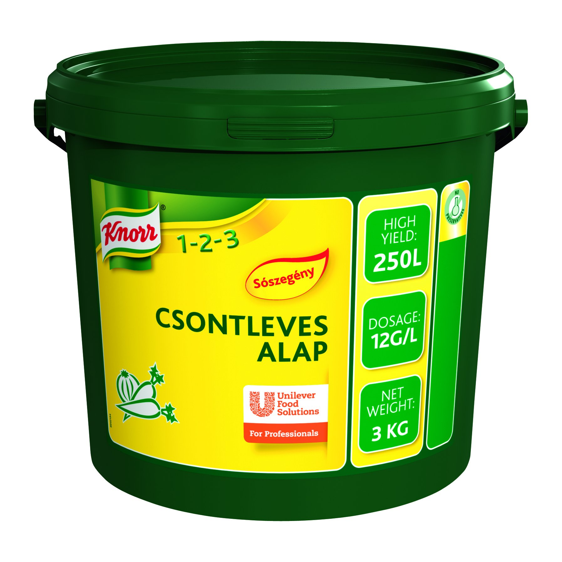 KNORR Csontleves alap - Sószegény 3kg -