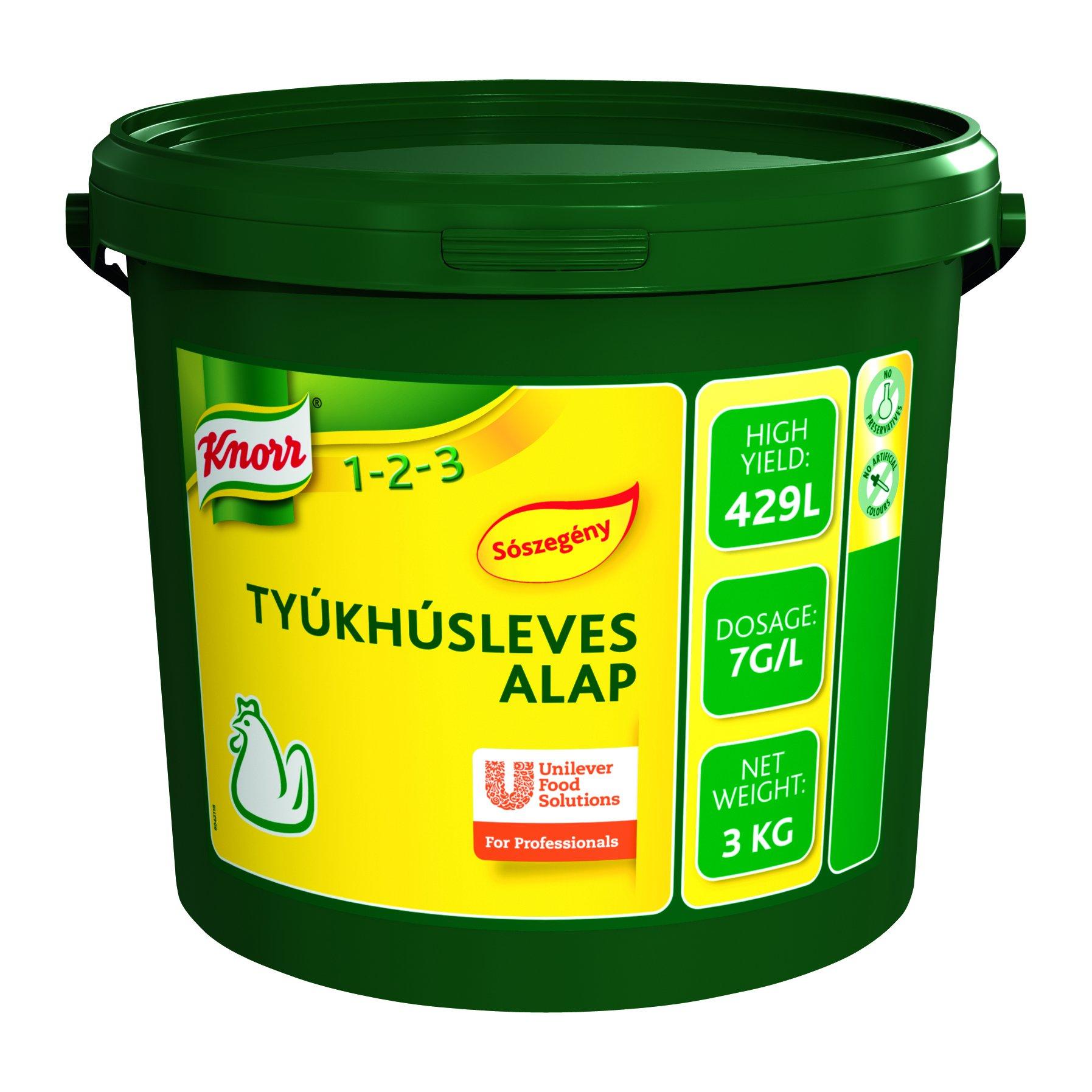 KNORR Tyúkhúsleves alap - Sószegény 3kg -