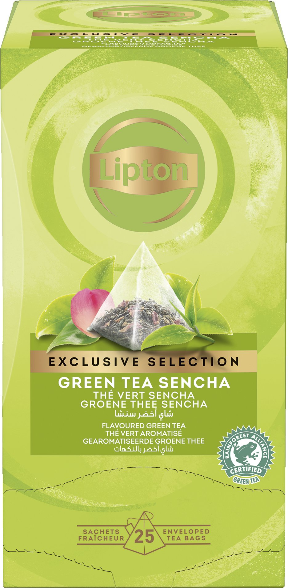 LIPTON Green tea Sencha - Zöld tea rózsa ízesítéssel -