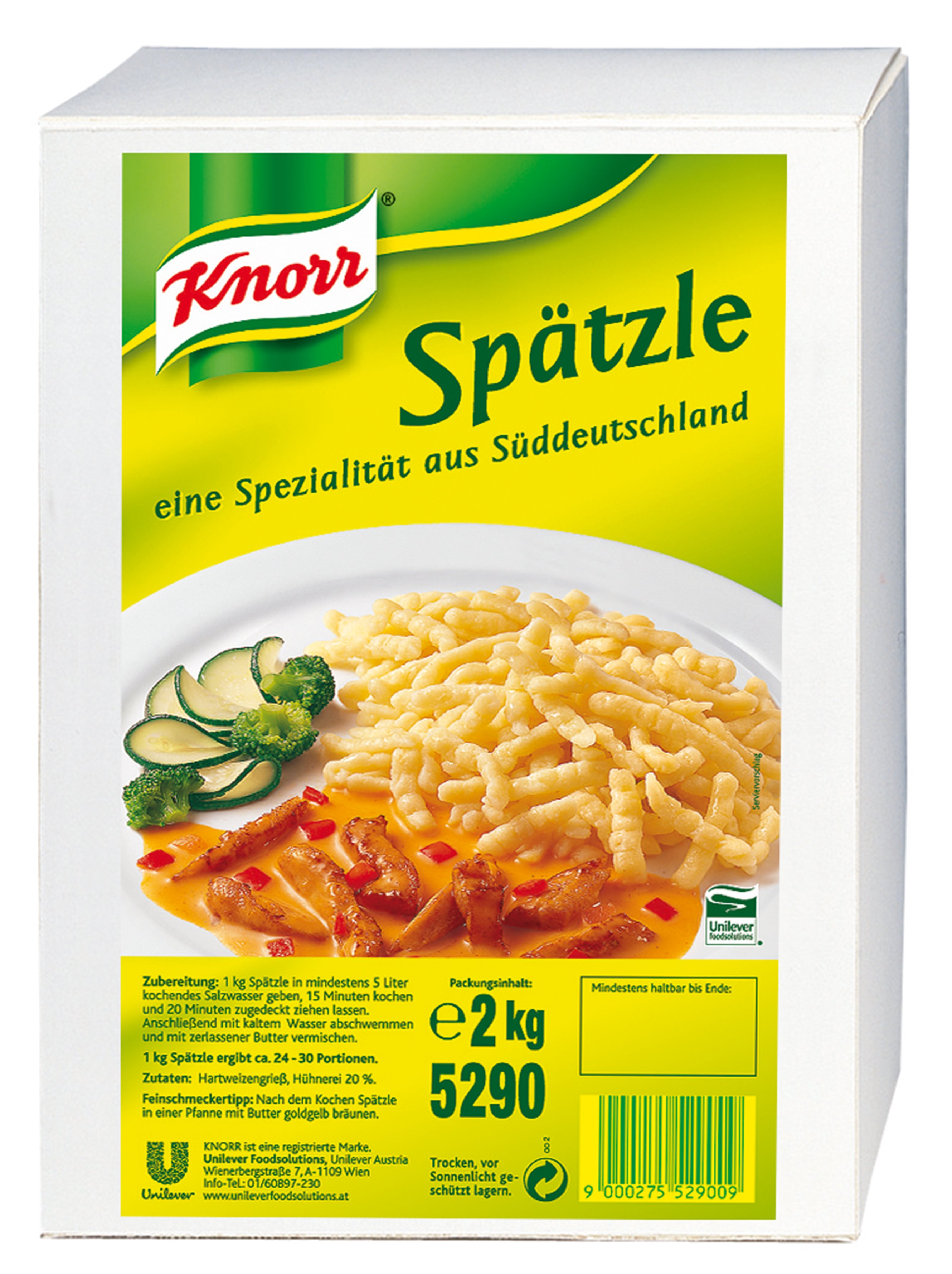 KNORR Német tájjelegű galuska - Spatzle -