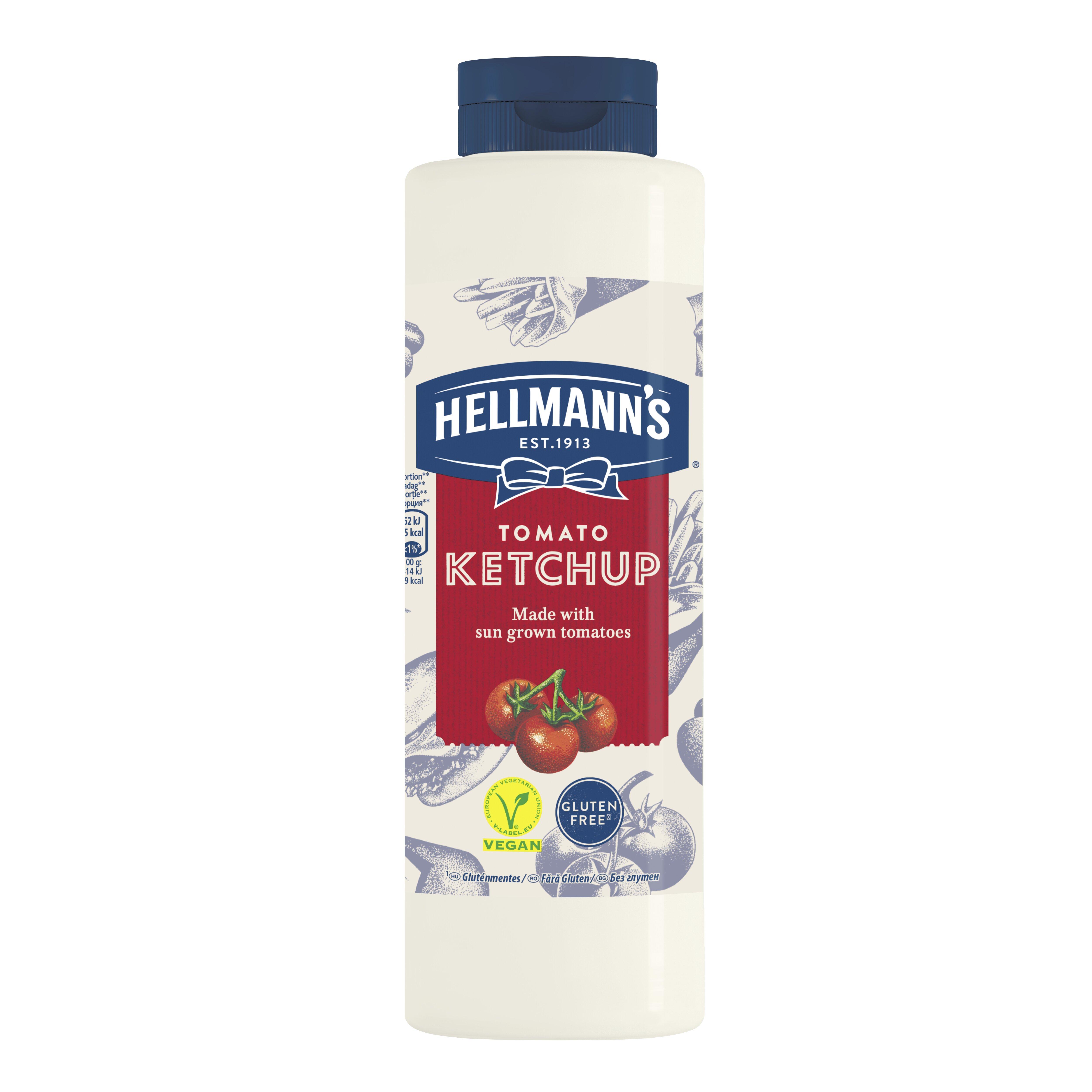 HELLMANN'S Ketchup 856 ml -  Minőségi márkájú termék felszolgálása pozitív benyomást kelt a vendégekben.